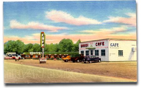 WY_Woods Motel & Cafe, Evanston