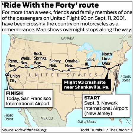 SF Chron Flt 93 map