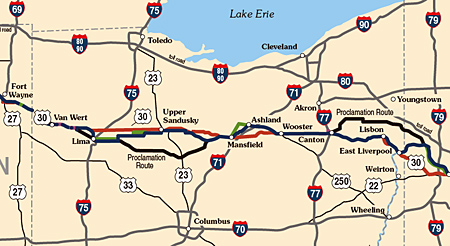 Could US In Ohio Become A Toll Road Lincoln Highway News - Us map of ohio